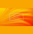 modern orange liquid wave background vector image vector image