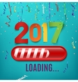 New year 2017 loading bar on celebrating vector image vector image