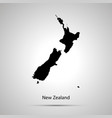 new zealand country map simple black silhouette vector image