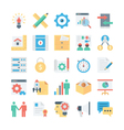 Project Management Colored Icons 3 vector image vector image
