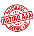 rating aaa red grunge round vintage rubber stamp vector image vector image
