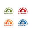 real-estate logo vector image vector image