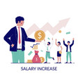 salary increase concept for web banner vector image