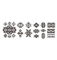 set decorative ethnic elements isolated on vector image vector image