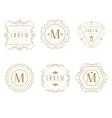 set elegant monogram design vector image vector image
