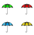 Set of colorful umbrella vector image