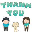 set of people saying thank you vector image vector image