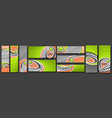 set tennis banners vector image