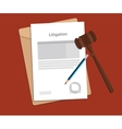 signing legal concept of litigation vector image vector image