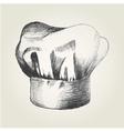 sketch a chef hat vector image vector image