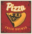 slice of pizza vector image