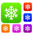 snowflake set collection vector image vector image