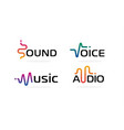 sound wave icons set music waves symbols audio vector image vector image