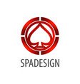 spade sign logo concept design 3d three vector image
