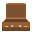 suitcase travel open isolated icon vector image