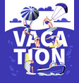 summer vacation sport adventure banner beach vector image vector image
