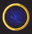 taurus star horoscope zodiac in fish eye vector image vector image