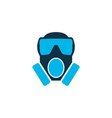 toxic gas icon colored symbol premium quality vector image