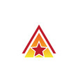 triangle star business logo vector image vector image