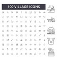 village line icons signs set outline vector image vector image