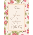 Vintage wedding invitation with torn paper banner vector image