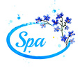 Watercolor spa design vector image