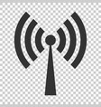 wifi internet sign icon in flat style wi-fi vector image vector image