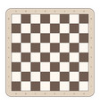 wooden chess board vector image vector image