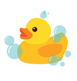 Yellow Rubber Duck Icon vector image vector image