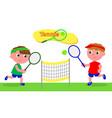 Young cartoon tennis player