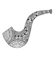 zentangle smoking pipe zen tangle brier vector image