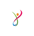 Health Logo Template vector image