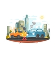Road traffic accident vector image