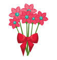beautiful flowers decorative icon vector image