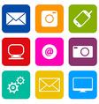 Technology Internet Communication Icons Set vector image