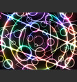 abstract colorful glowing neon on black background vector image vector image