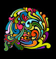 abstract swirl background for your design vector image vector image