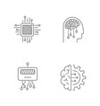 ai icons set artificial intelligence icons vector image vector image
