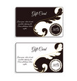 an elegant gift card with leafy elements of vector image vector image