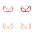 assembly stickers wings eagle vector image vector image
