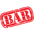 Bar stamp vector image