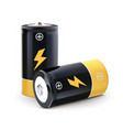 battery realistic 3d vector image vector image