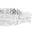 beethoven text word cloud concept vector image vector image
