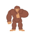 bigfoot thumbs up yeti winks emoji abominable vector image