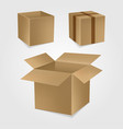 box carton cardboard business package delivery vector image vector image