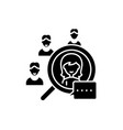 candidate selection black icon sign on vector image