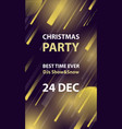 christmas night club party flyer or poster vector image