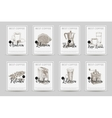 Coffee poster set llustrations in sketch vector image vector image