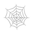 contour pattern of a web drawing by hand vector image