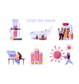 covid19 vaccination pharmaceutical collection vector image vector image